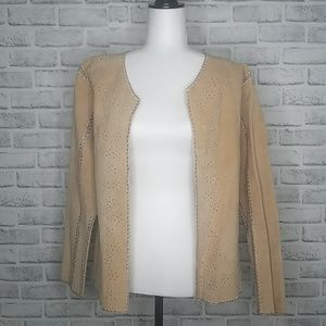 Chico's Design Leather Cut Out Jacket Size 2/Large